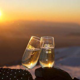 Winter wine snow